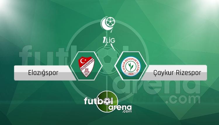 Elazığspor Çaykur Rizespor canlı skor, maç sonucu - Maç hangi kanalda?