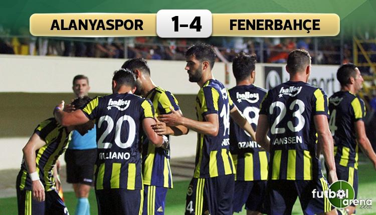 Alanyaspor 1-4 Fenerbahçe maç özeti ve goller (İZLE)