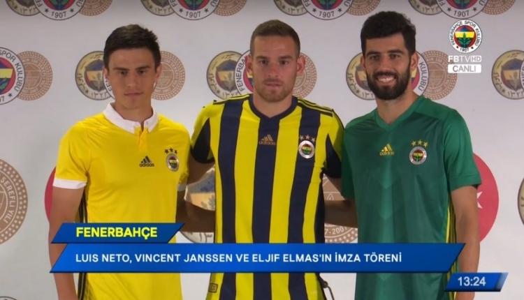 Fenerbahçe'de Vincent Janssen, Eljif Elmas ve Luis Neto için imza töreni