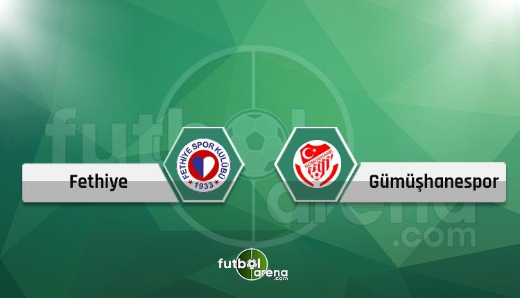 Fethiyespor - Gümüşhanespor canlı skor, maç sonucu - Maç hangi kanalda?