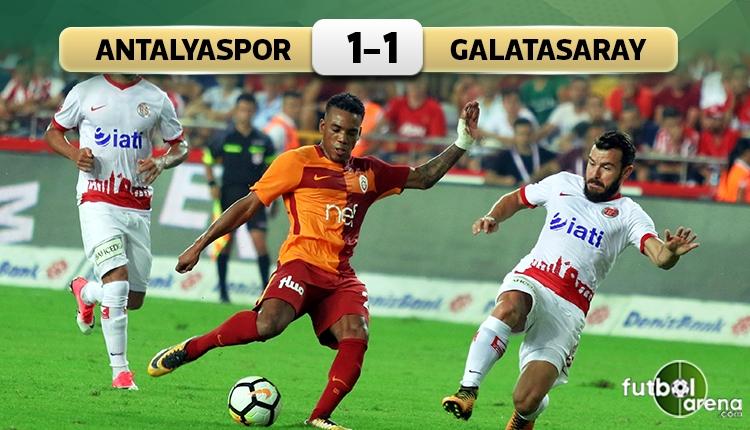 Antalyaspor 1-1 Galatasaray maç özeti ve golleri (İZLE)