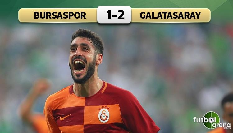 Bursaspor 1-2 Galatasaray maç özeti ve golleri (İZLE)