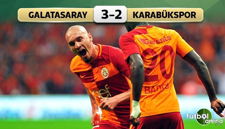 Galatasaray 3-2 Karabükspor maç özeti ve golleri (İZLE)