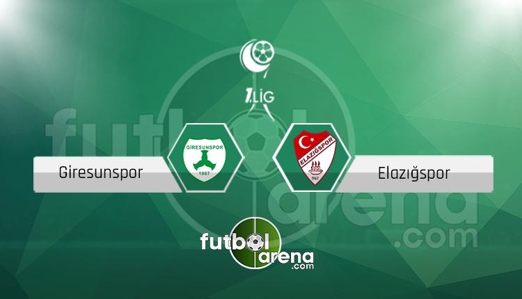 Giresunspor Elazığspor canlı skor, maç sonucu - Maç hangi kanalda?