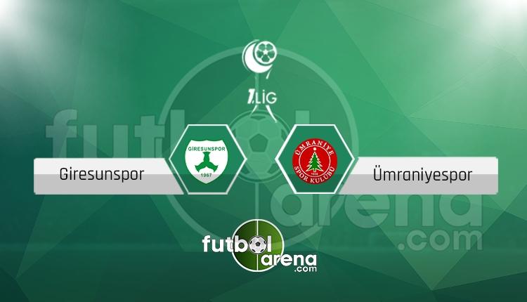 Giresunspor Ümraniyespor canlı skor, maç sonucu - Maç hangi kanalda?