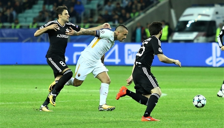 Karabağ 1-2 Roma maç özeti ve golleri