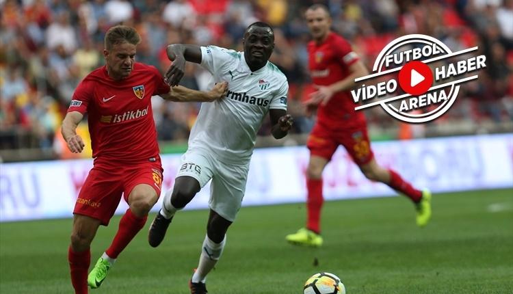 Kayserispor 3-1 Bursaspor maçı özeti ve golleri (İZLE)