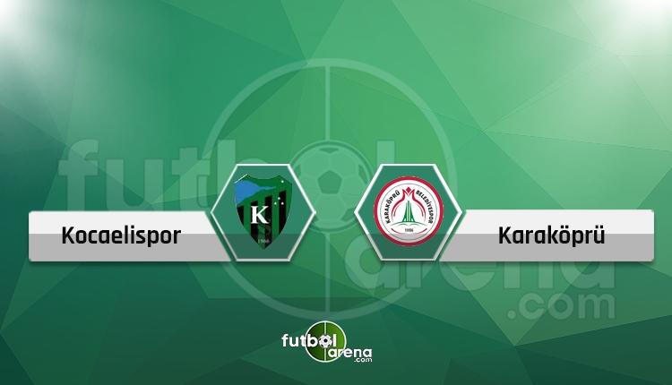 Kocaelispor - Karaköprü Belediyespor canlı skor, maç sonucu, şifresiz izle!
