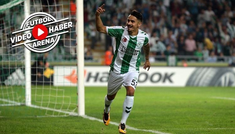Konyaspor'da Musa Araz'ın Vitoria Guimaraes'e attığı gol (İZLE)