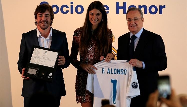 Real Madrid'den Fernando Alonso'ya büyük onur