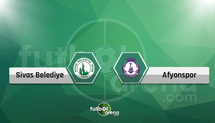 Sivas Belediye - Afjet Afyonspor canlı skor, TV yayın İZLE
