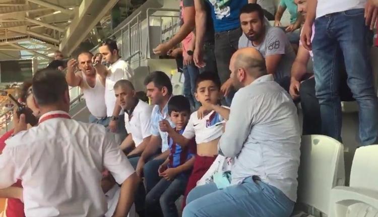 Trabzonspor forma baskısı gören minik taraftarlarına sahip çıktı