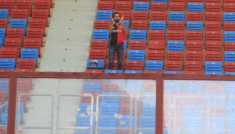 Gençlerbirliği'ni Trabzonspor deplasmanında tek başına destekledi