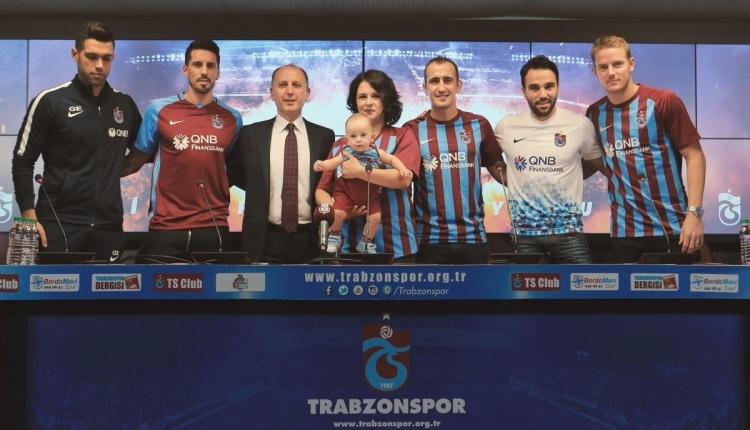 Trabzonspor'dan Volkan Şen, Jose Sosa ve Tomas Hubocan imza töreni