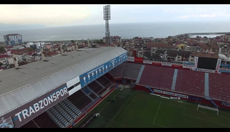 Trabzonspor'un eski stadı Hüseyin Avni Aker yıkılıyor.