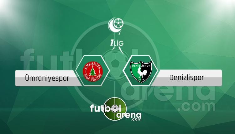 Ümraniyespor Denizlispor canlı skor, maç sonucu - Maç hangi kanalda?