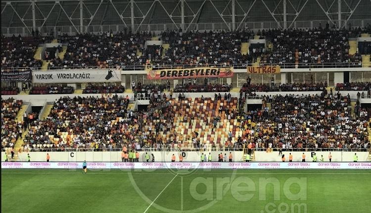 Yeni Malatyaspor taraftarları Bursaspor maçında isyan etti
