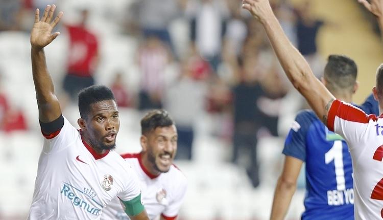 Antalyaspor'da Eto'o'nun attığı gole Kasımpaşa'dan itiraz
