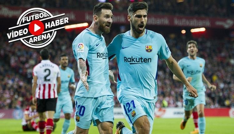 Athletic Bilbao 0-2 Barcelona maçı özeti ve golleri (İZLE)