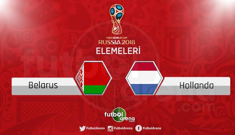 Belarus Hollanda canlı skor, maç sonucu - Maç hangi kanalda?