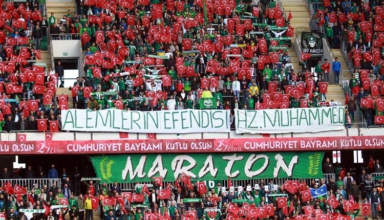 Bursasporlu taraftarlardan Beşiktaş'a gönderme