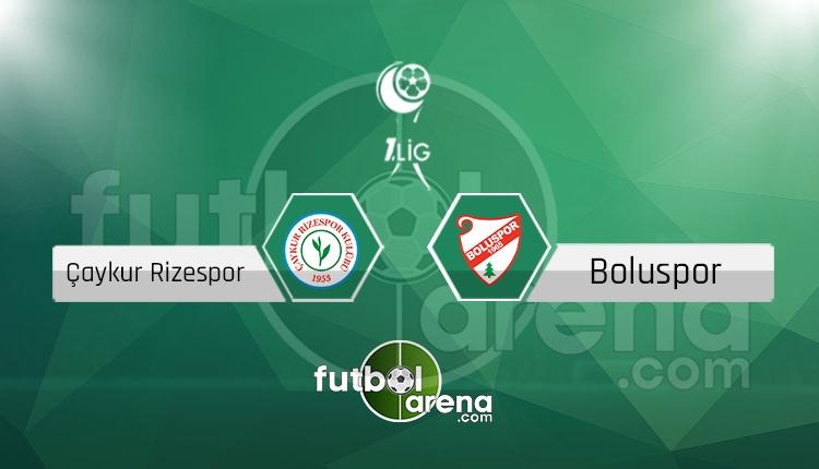 Çaykur Rizespor - Boluspor canlı skor, maç sonucu - Maç hangi kanalda?