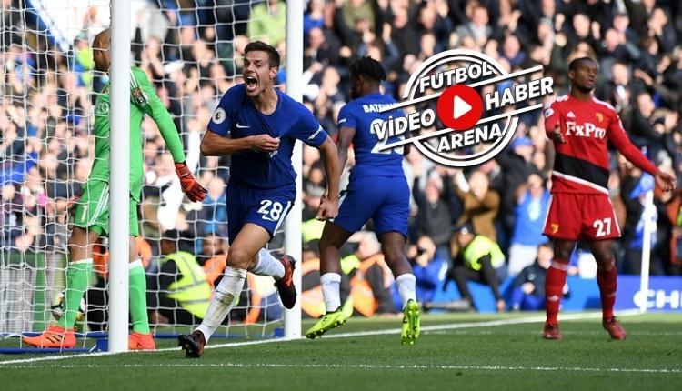 Chelsea 4-2 Watford maçı özeti ve golleri (İZLE)