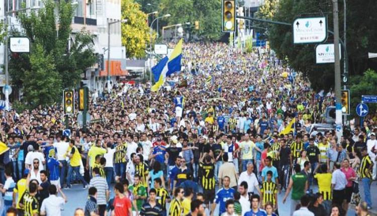 Fenerbahçe taraftarından TFF'ye protesto yürüyüşü