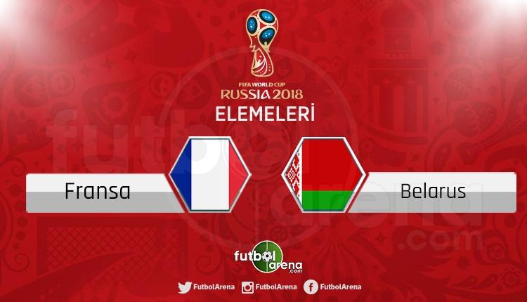 Fransa - Belarus canlı skor, maç sonucu - Maç hangi kanalda?