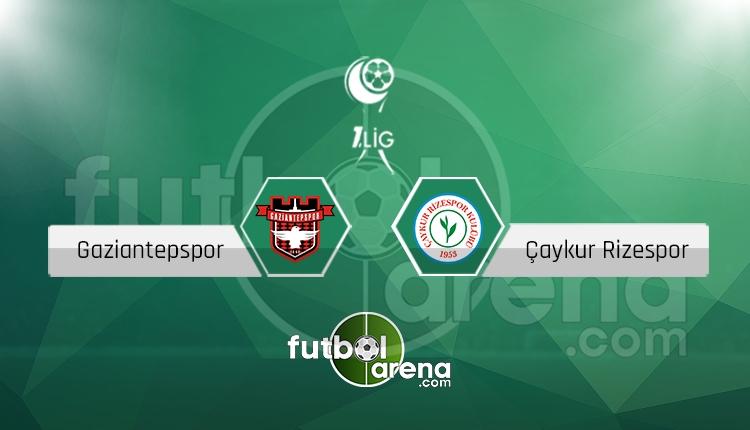 Gaziantepspor - Çaykur Rizespor canlı skor, maç sonucu - Maç hangi kanalda?
