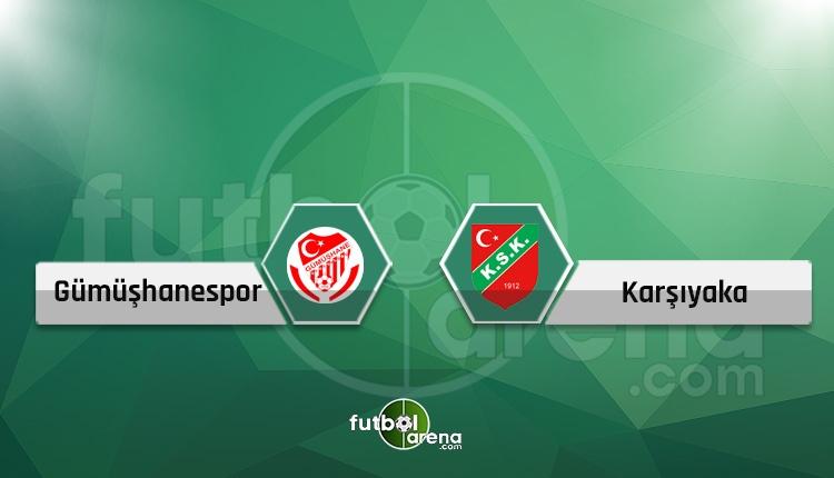 Gümüşhanespor - Karşıyaka canlı skor, maç sonucu, naklen ve şifresiz izle!