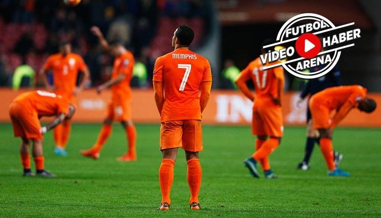 Hollanda kazandı ama Dünya Kupası'na gidemedi (İZLE)