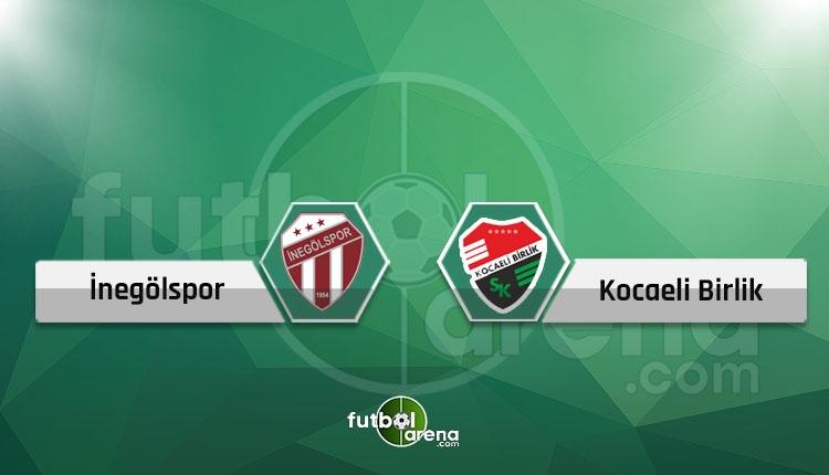 İnegölspor - Kocaeli Birlikspor canlı skor, maç sonucu, şifresiz naklen İZLE