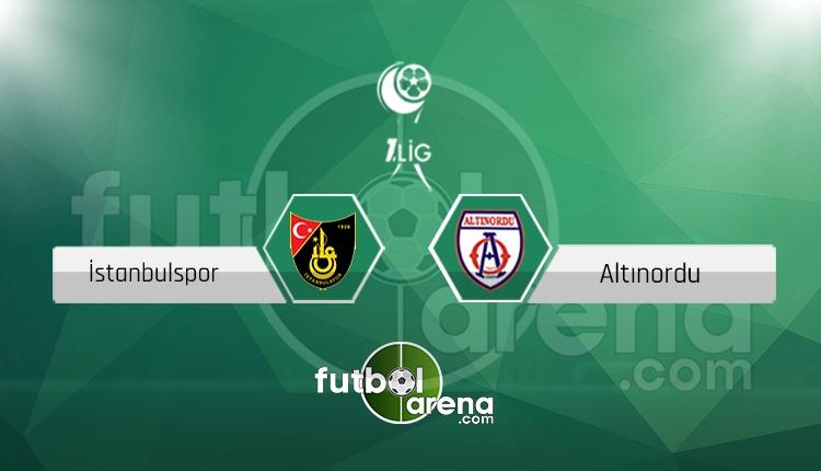 İstanbulspor - Altınordu canlı skor, maç sonucu - Maç hangi kanalda?
