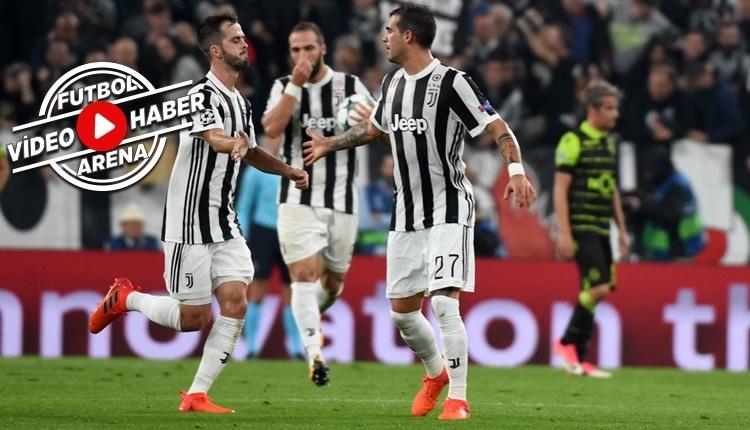 Juventus 2-1 Sporting Lizbon maçı özeti ve golleri (İZLE)