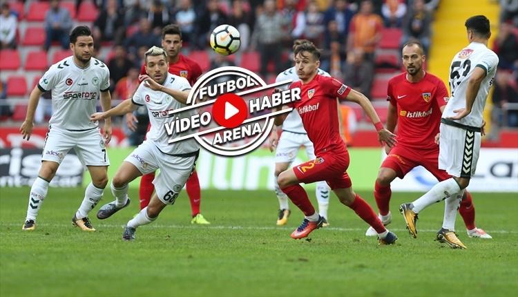 Kayserispor 2-1 Konyaspor maçı özeti ve golleri (İZLE)