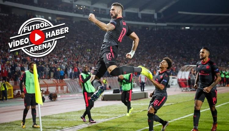 Kızılyıldız 0-1 Arsenal maçı özeti ve golü (İZLE)