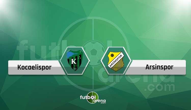 Kocaelispor - Arsinspor canlı skor, maç sonucu, şifresiz naklen izle