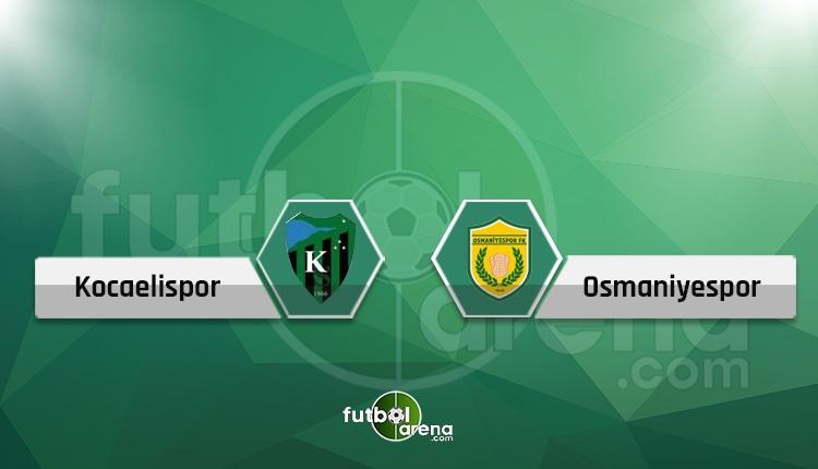 Kocaelispor - Osmaniyespor canlı skor, maç sonucu, şifresiz ve naklen İZLE