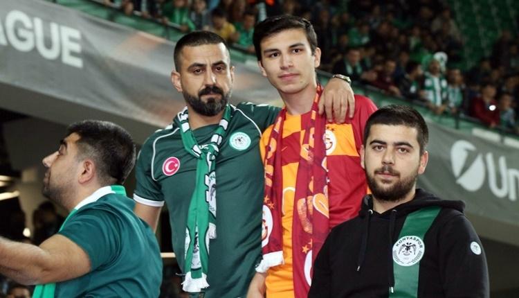 Konyaspor'un Salzburg maçını Galatasaraylı Hakan Karaoğlu da izledi