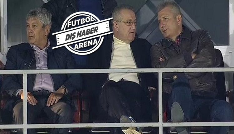 Lucescu Türkiye'de değil, Romanya'da maç izliyor!