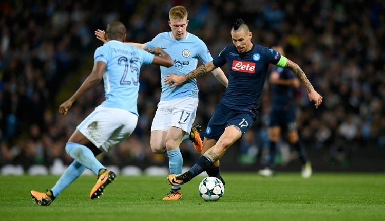 Manchester City 2-1 Napoli maçı özeti ve golleri