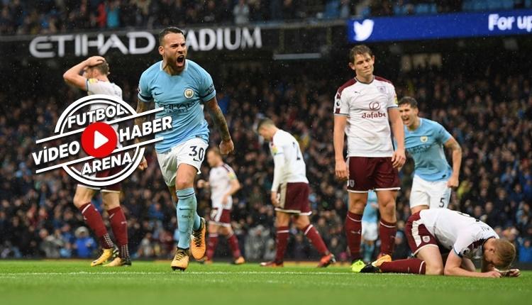 Manchester City 3-0 Burnley maçı özeti ve golleri (İZLE)