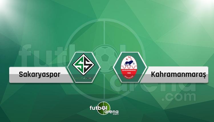 Sakaryaspor - Kahramanmaraşspor canlı skor, maç sonucu, maç hangi kanalda?