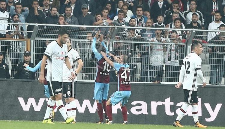 Trabzonspor'da Olcay Şahan Beşiktaş'a attığı gol sonrası sevinmedi