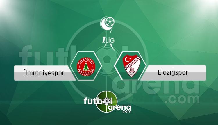 Ümraniyespor Elazığspor canlı skor, maç sonucu - Maç hangi kanalda?