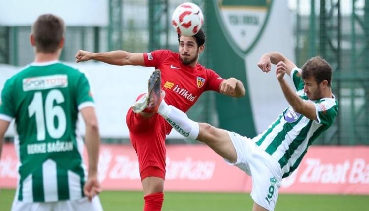 Yeşil Bursa 1 - 2 Kayserispor maçı özeti ve golleri (İZLE)