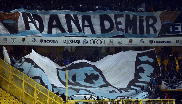 Adana Demirspor taraftarları Fenerbahçe maçına damga vurdu