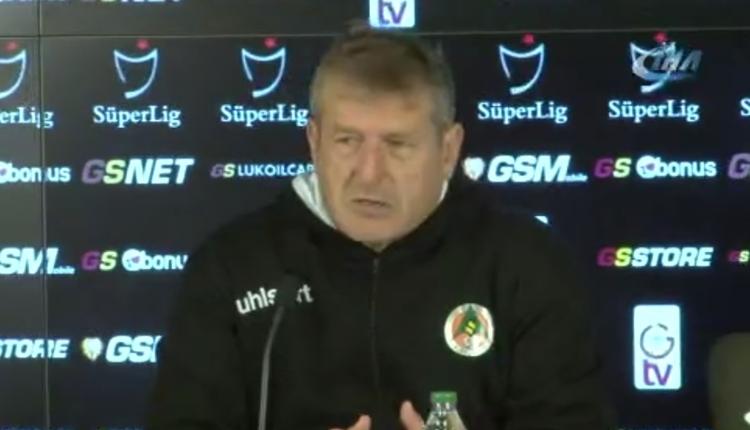 Alanyaspor'da Safet Susic: 'Galatasaray maçından ümidim yoktu'