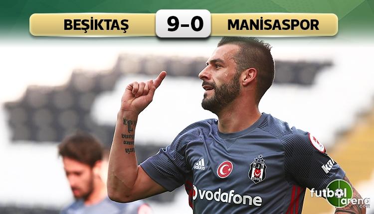 Beşiktaş 9 - 0 Manisaspor maç özeti ve golleri (İZLE)